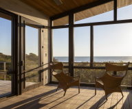The country house on the sand dunes of Cape Cod, United States