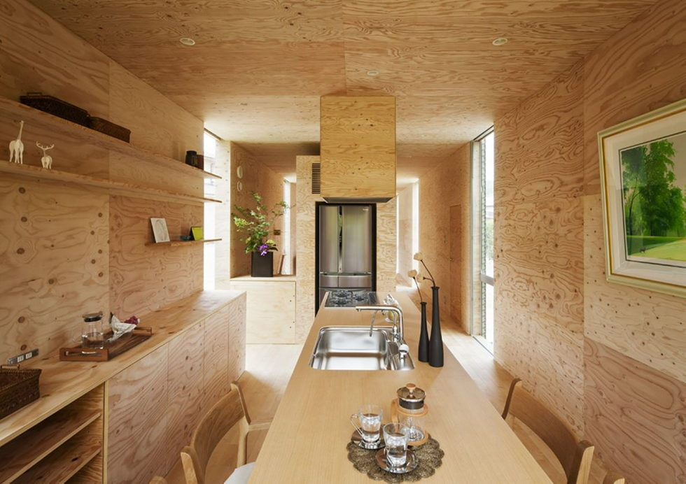 The pendulous over the forest house '+ node' from the UID Architects 9