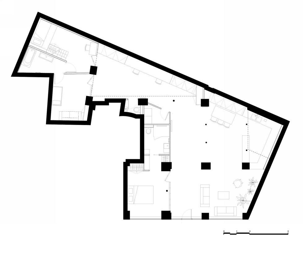 Unusual Loft In Paris From Maxime Jansens Studio - Plan