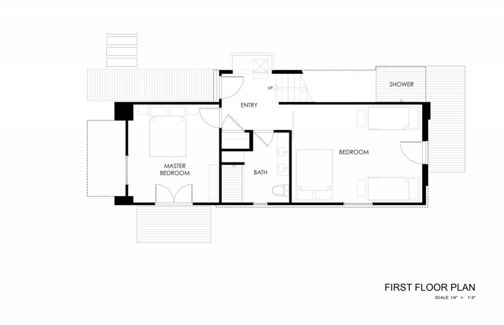 510 Cabin The Country House From Hunter Leggitt Studio In The USA - First Floor Plan