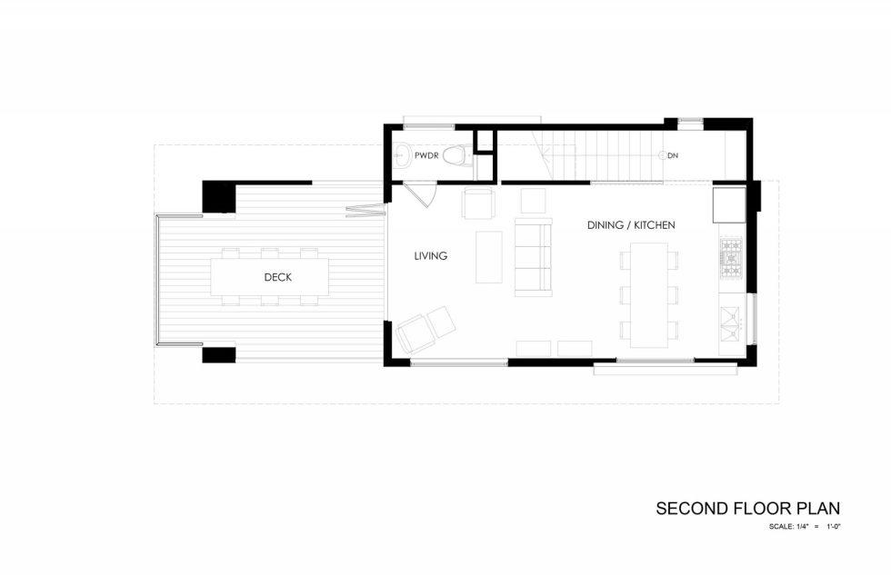 510 Cabin The Country House From Hunter Leggitt Studio In The USA - Second Floor Plan