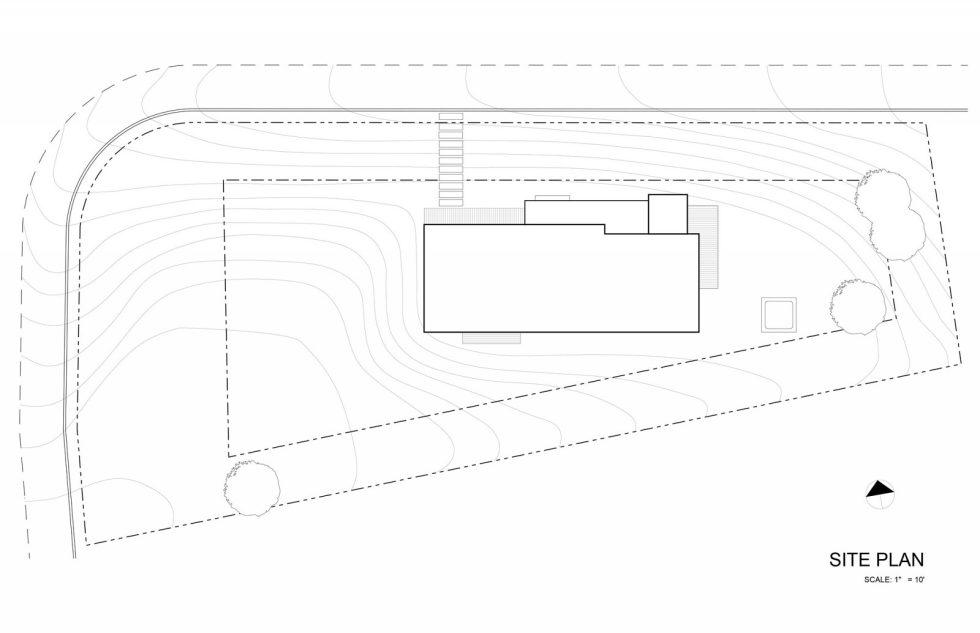 510 Cabin The Country House From Hunter Leggitt Studio In The USA - Site Plan