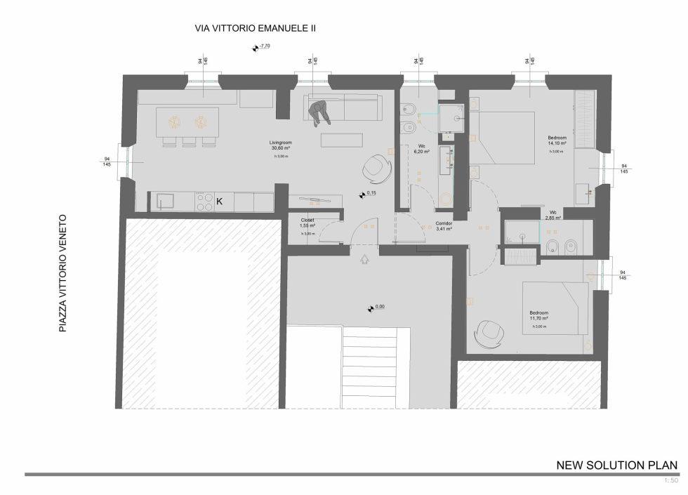 Apartment With Elegant Interior From Carlo Pecorini Studio - Plan