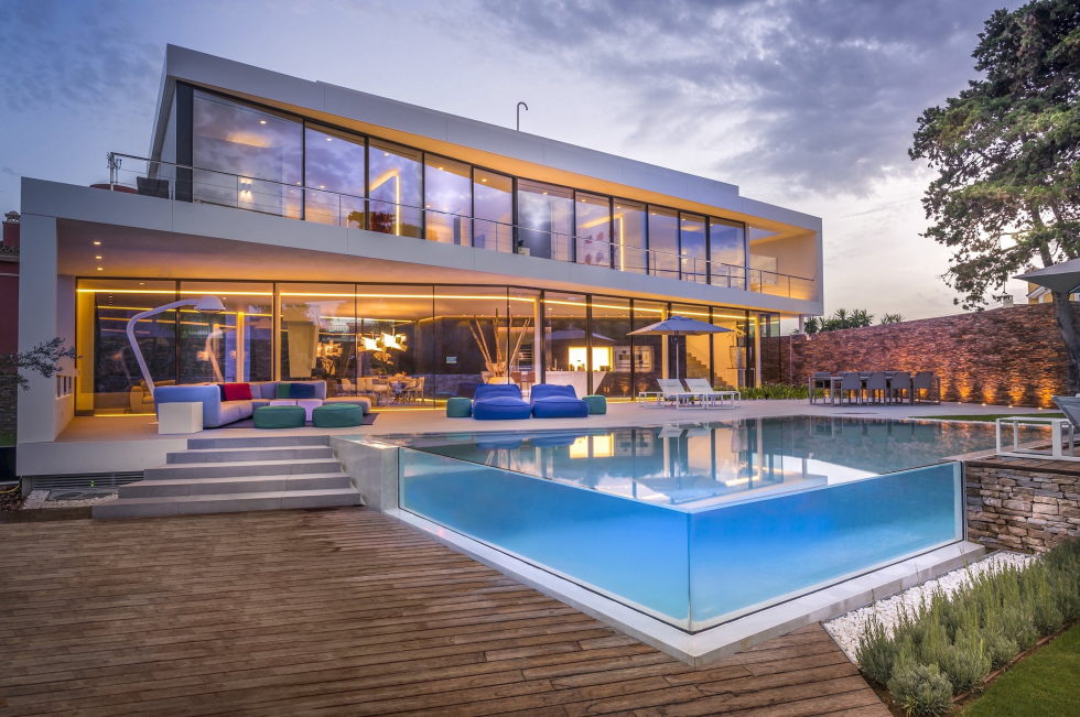 cool blue villa in spain upon the project of 123dv architect company
