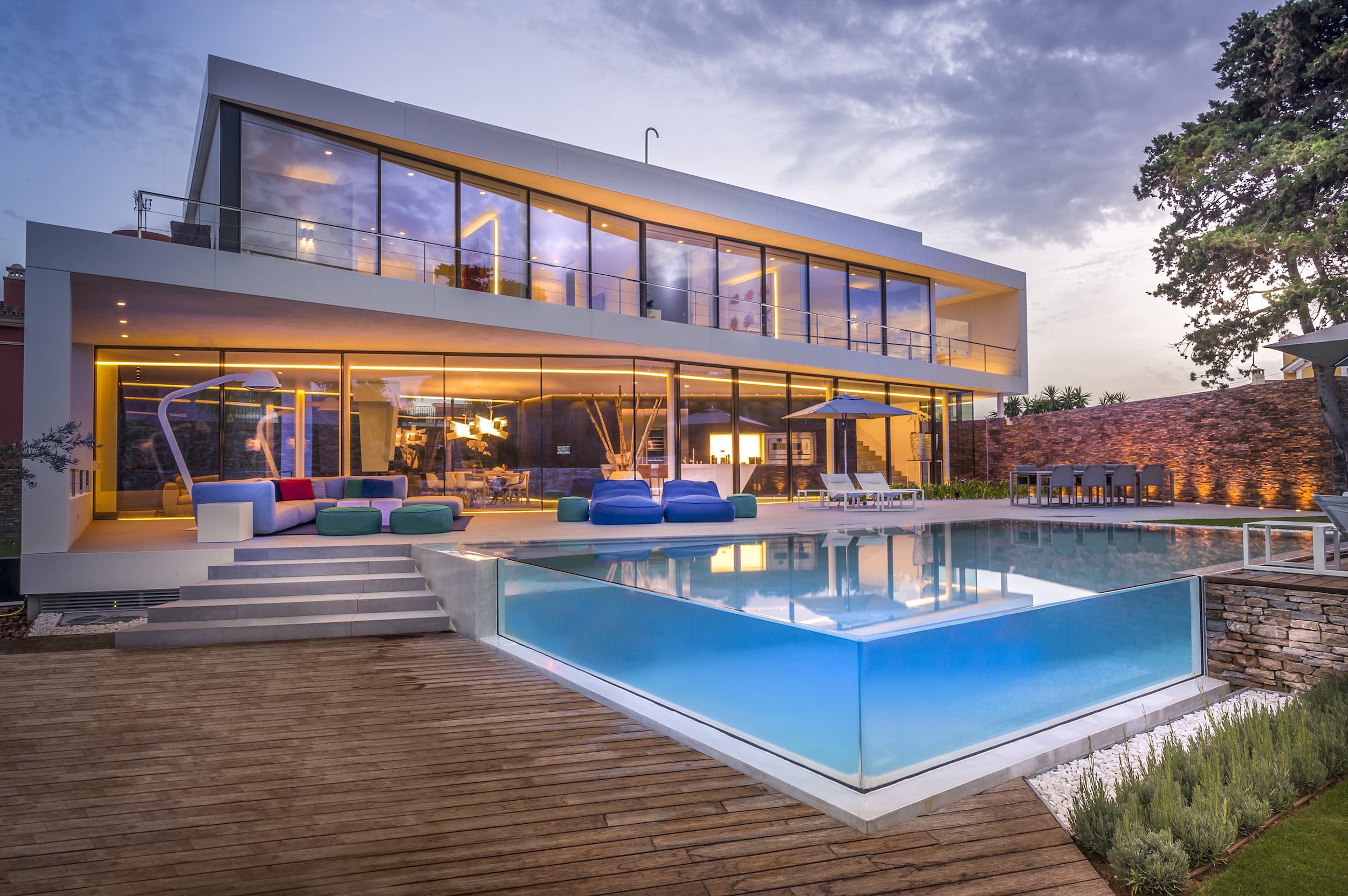 Architect Company cool blue villa in spain upon the project of 123dv architect company