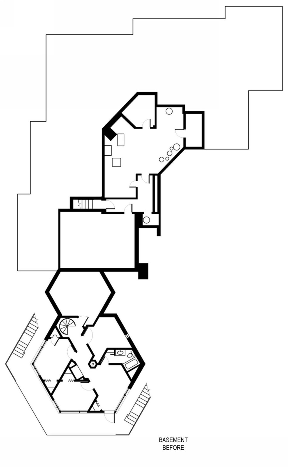Difficult Run Family House Reconstruction in Virginia Upon The Project Of Robert M. Gurney Architect - Plan 1