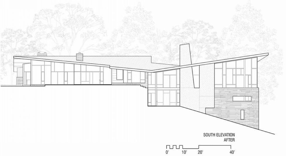 Difficult Run Family House Reconstruction in Virginia Upon The Project Of Robert M. Gurney Architect - Plan 11