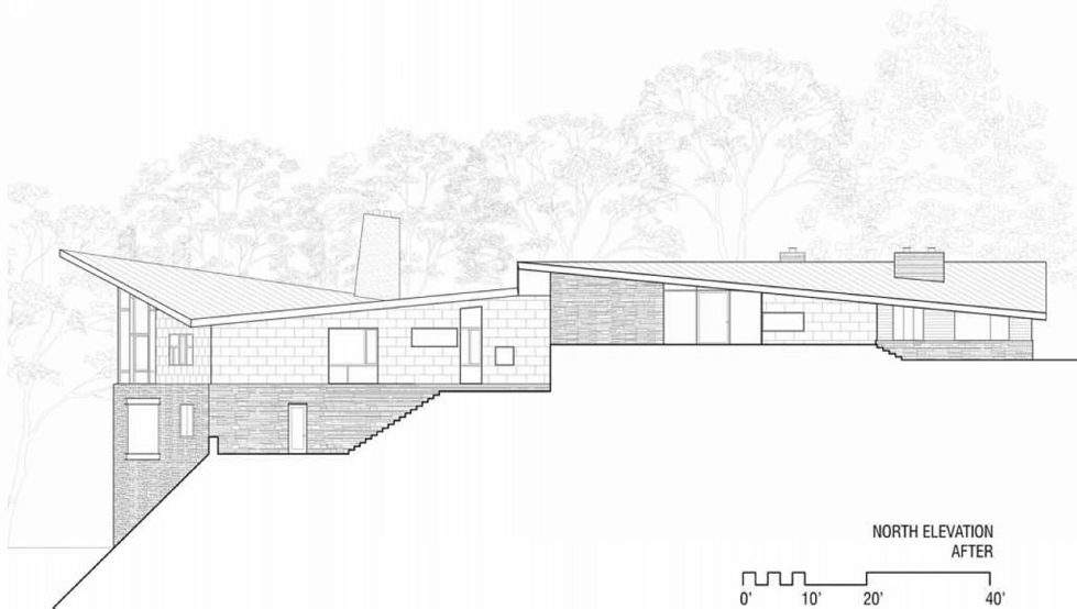 Difficult Run Family House Reconstruction in Virginia Upon The Project Of Robert M. Gurney Architect - Plan 13