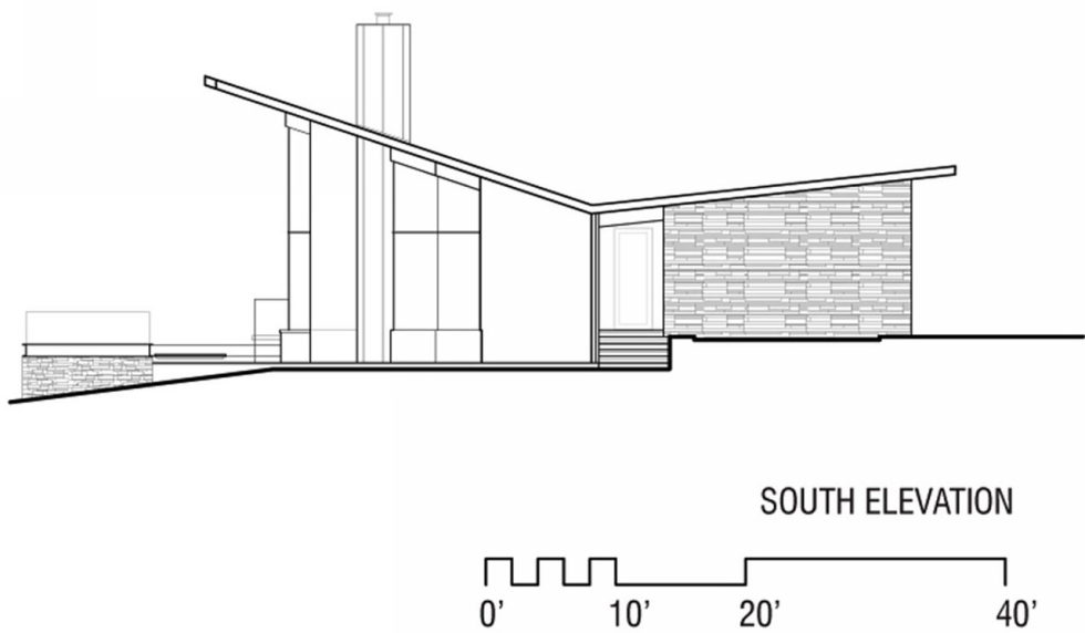 Difficult Run Family House Reconstruction in Virginia Upon The Project Of Robert M. Gurney Architect - Plan 14
