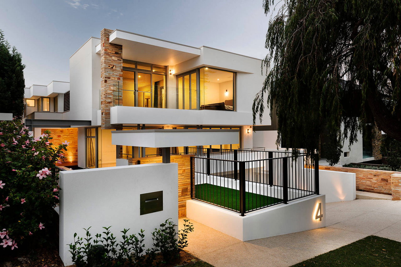 Geraldine street cottesloe the modern private house upon for Custom house ideas
