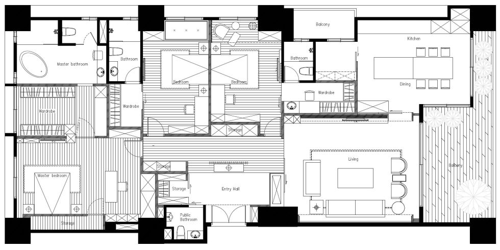 Interior Of The Apartment In Taiwan From Manson Hsiao, Hui-yu Interior Design Studio - Plan