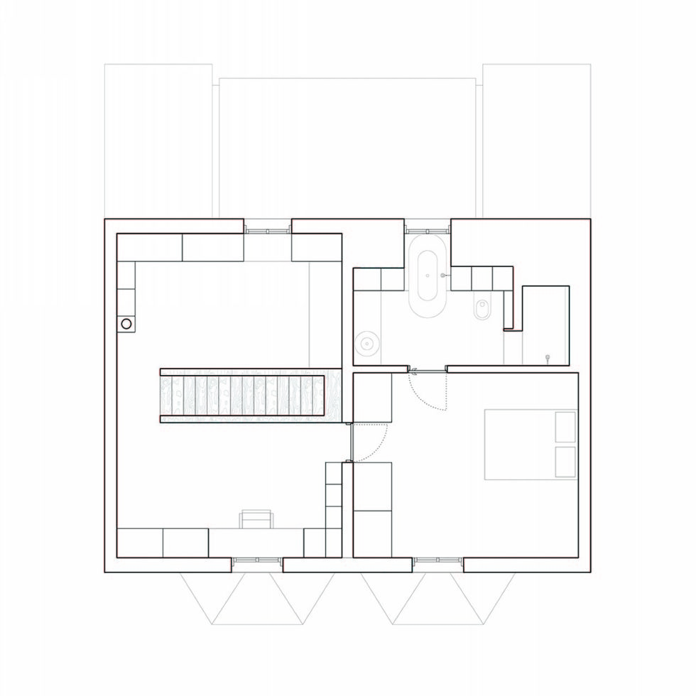 Joining of two residences together in the Victorian style in Oxford - Plan 3