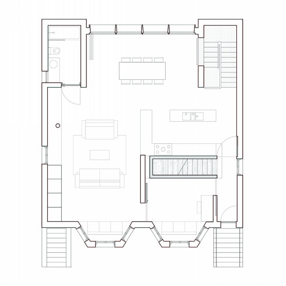 Joining of two residences together in the Victorian style in Oxford - Plan 4