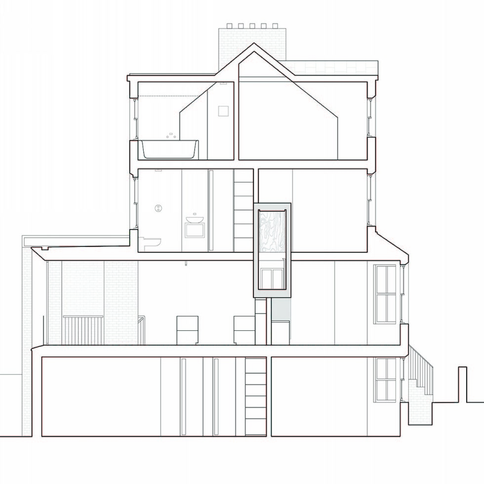 Joining of two residences together in the Victorian style in Oxford - Plan 6