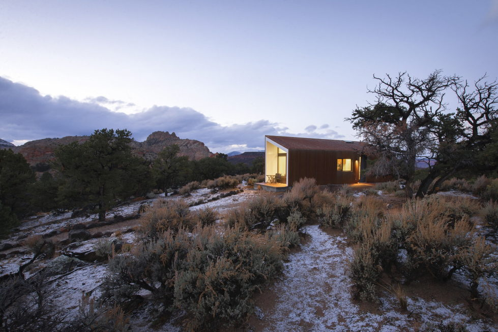 Original Project Of The House In Capitol Reef National Park From Imbue Design Bureau 14