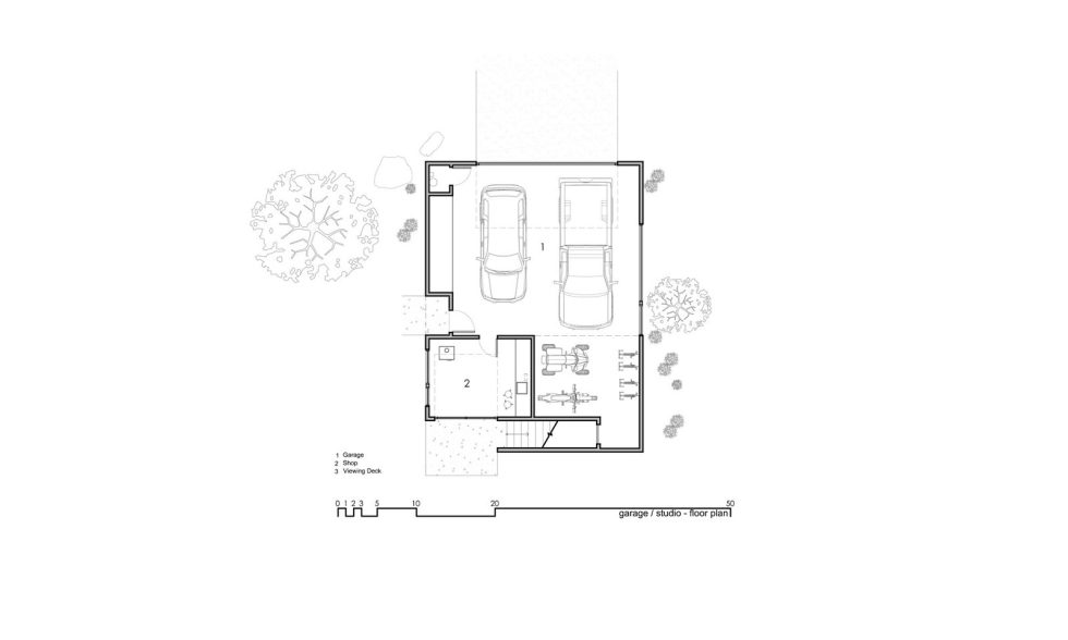Original Project Of The House In Capitol Reef National Park From Imbue Design Bureau - Garage Studio Floor Plan