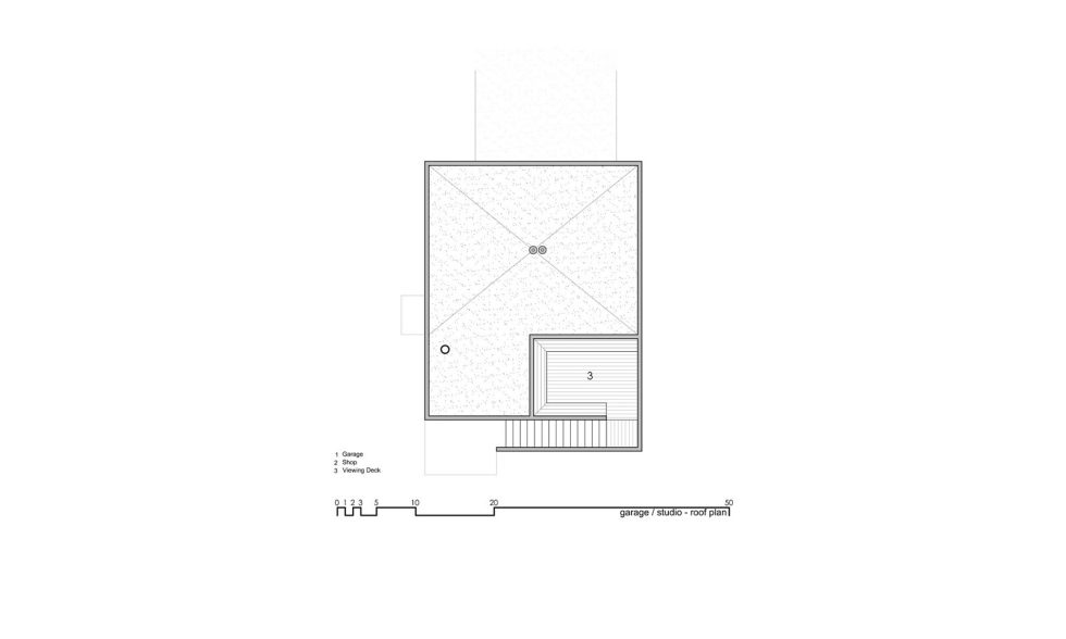 Original Project Of The House In Capitol Reef National Park From Imbue Design Bureau - Garage Studio Roof Plan