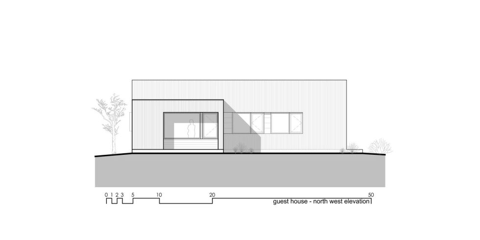 Original Project Of The House In Capitol Reef National Park From Imbue Design Bureau - Guest House Elevation North