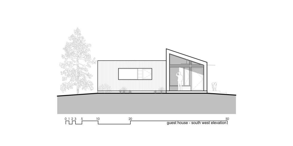 Original Project Of The House In Capitol Reef National Park From Imbue Design Bureau - Guest House Elevation South