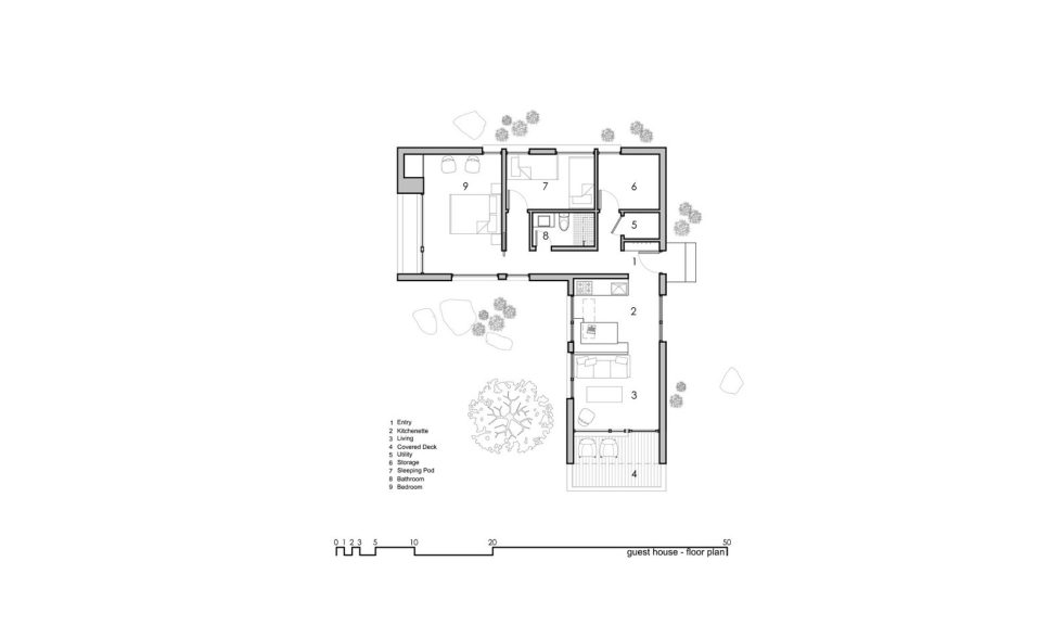 Original Project Of The House In Capitol Reef National Park From Imbue Design Bureau - Guest House Floor Plan