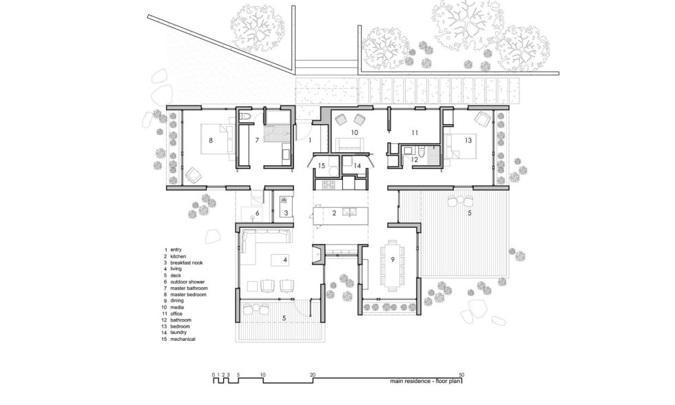 Original Project Of The House In Capitol Reef National Park From Imbue Design Bureau - Main Residence Floor Plan