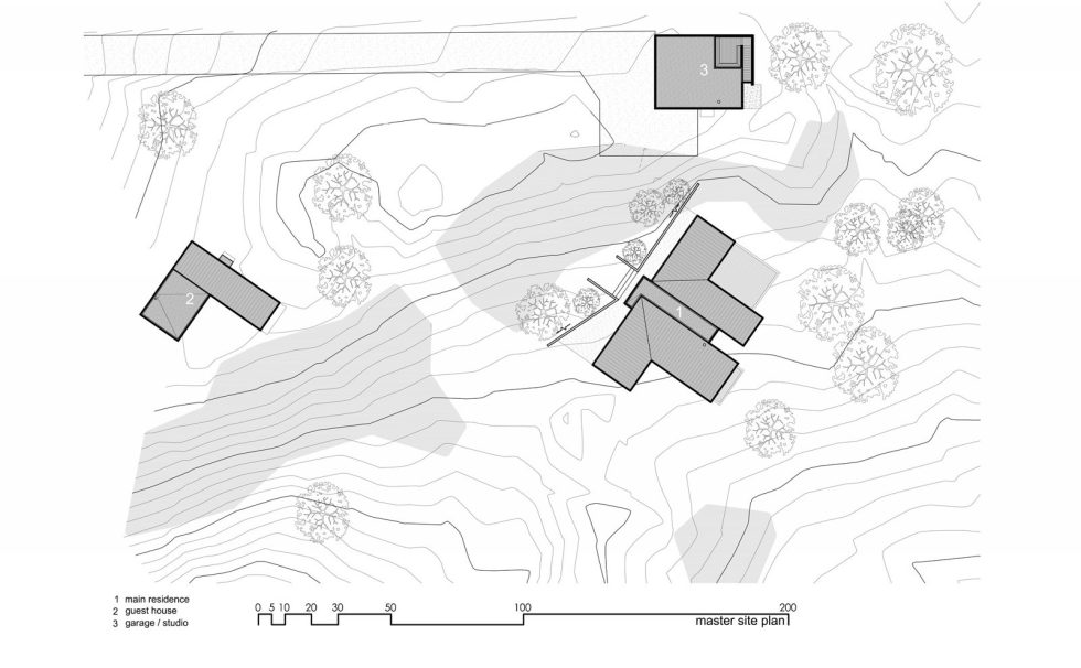 Original Project Of The House In Capitol Reef National Park From Imbue Design Bureau - Master Site Plan