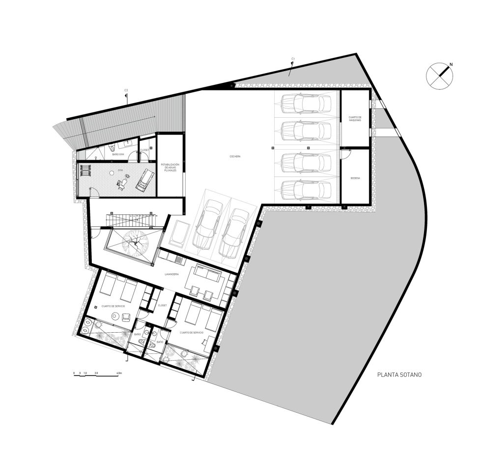 Private Residency Casa V9 In Mexico From VGZ Arquitectura Studio - Plan 1