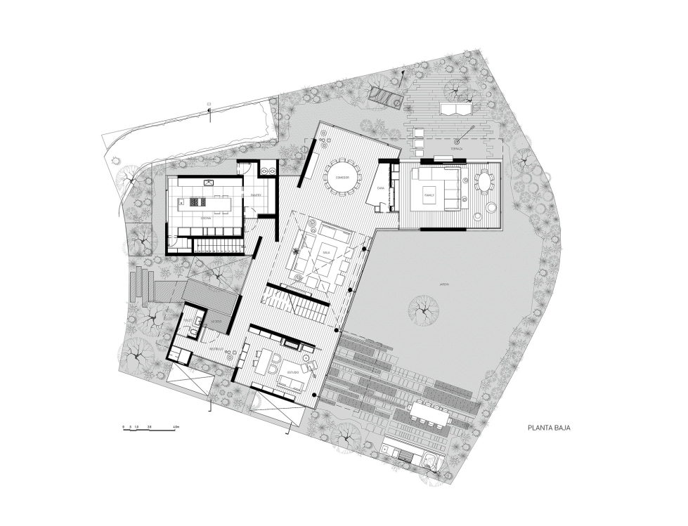 Private Residency Casa V9 In Mexico From VGZ Arquitectura Studio - Plan 2