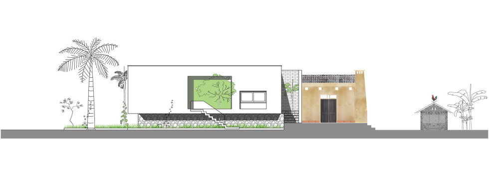 The Shelter Extension Of The Rural Houses Space in Vietnam - Plan 2
