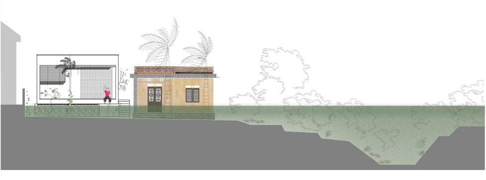 The Shelter Extension Of The Rural Houses Space in Vietnam - Plan 4
