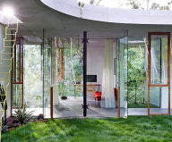The glass house Planchonella in the tropical forest from Jesse Bennett Architect