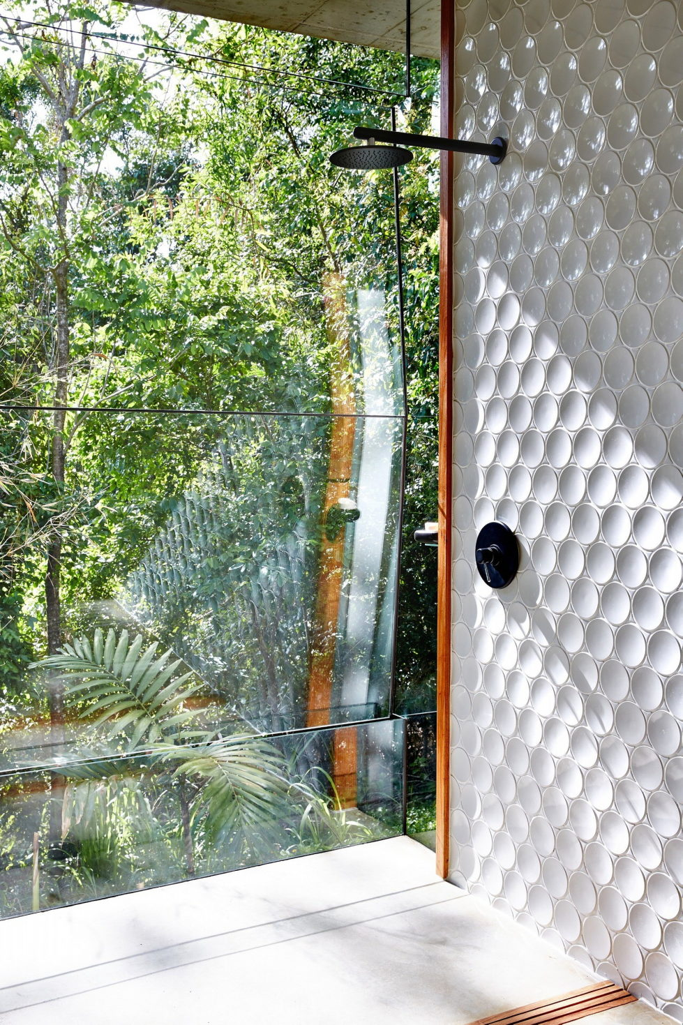 The glass house Planchonella in the tropical forest from Jesse Bennett Architect 22