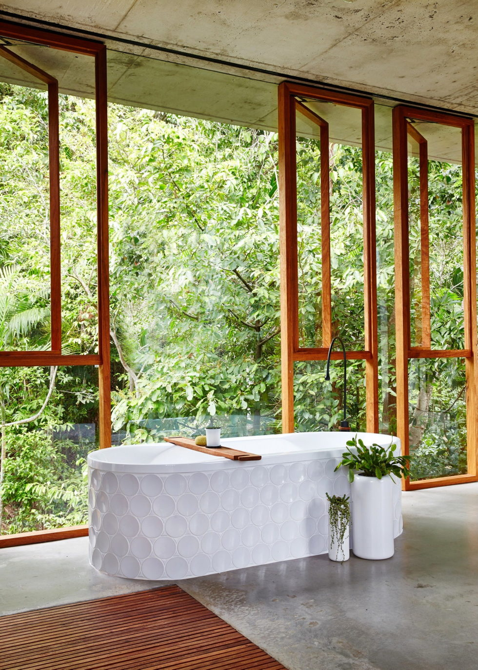 The glass house Planchonella in the tropical forest from Jesse Bennett Architect 23