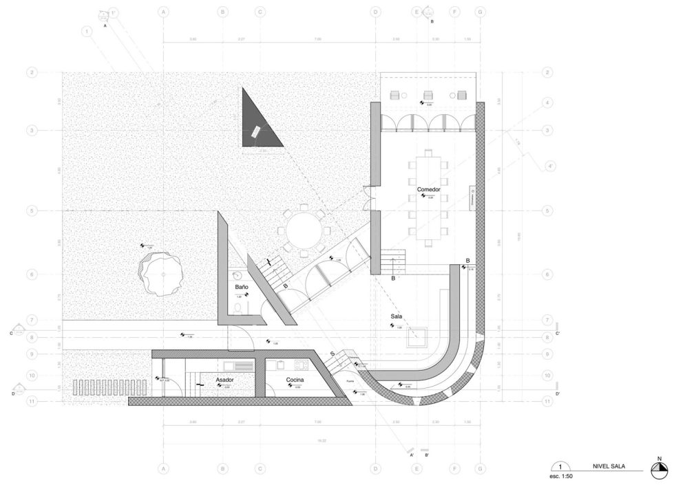 Unusual House From Greenfield Studio At The Ecological Reserve In Mexico - Plan 2