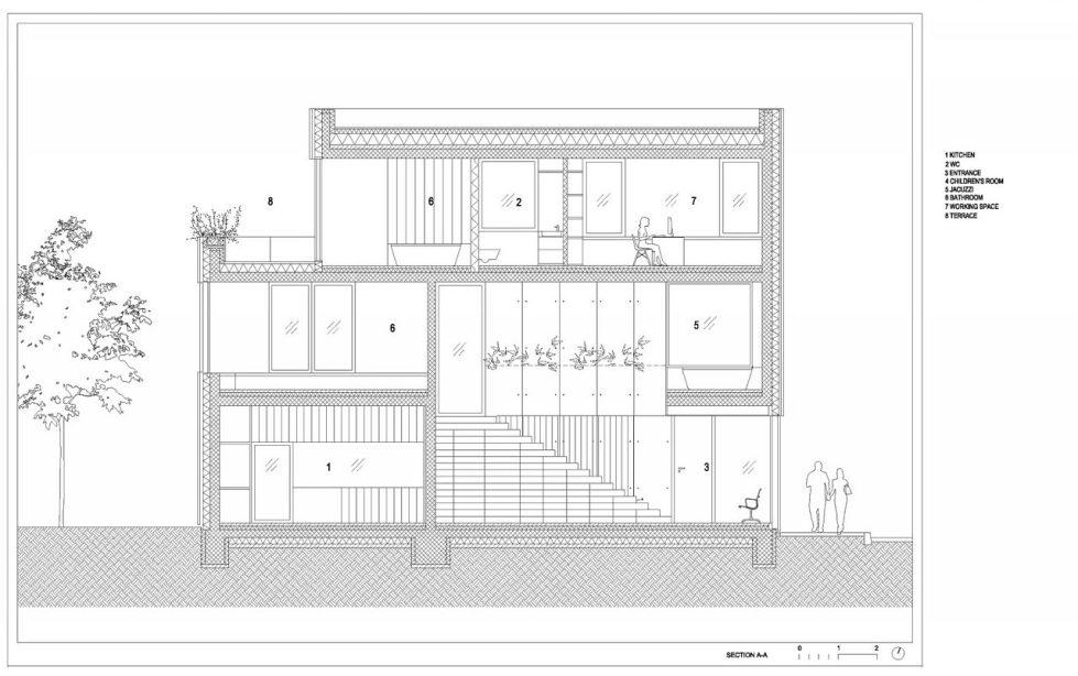 Villa Criss-Cross Envelope In Slovenia From OFIS Arhitekti - Plan 10
