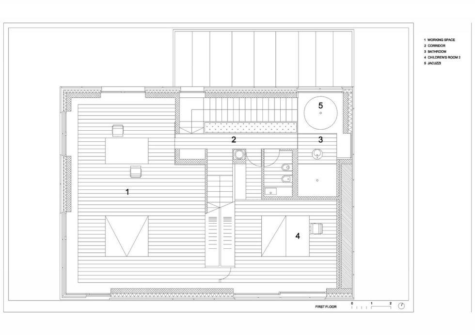 Villa Criss-Cross Envelope In Slovenia From OFIS Arhitekti - Plan 3
