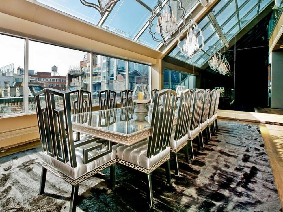 Apartment New York Lenny Kravitz design dining room
