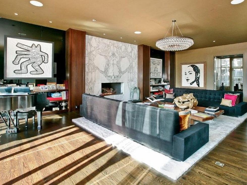 Apartment New York Lenny Kravitz design live room