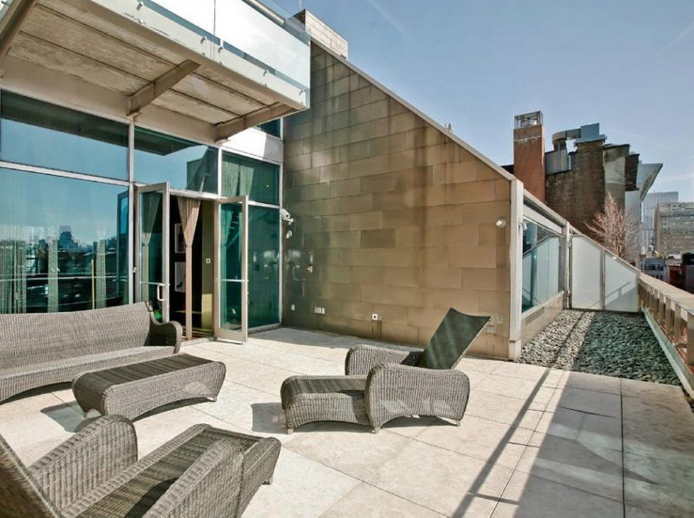 Apartment New York Lenny Kravitz design terrace 2