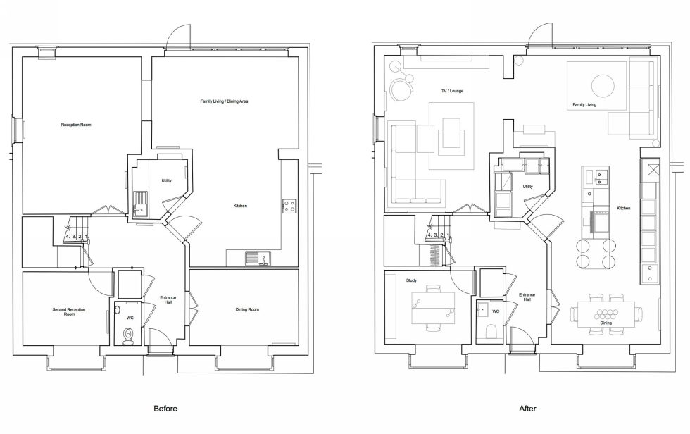 Bright stylish interior by LLI Design studio - Plan 1