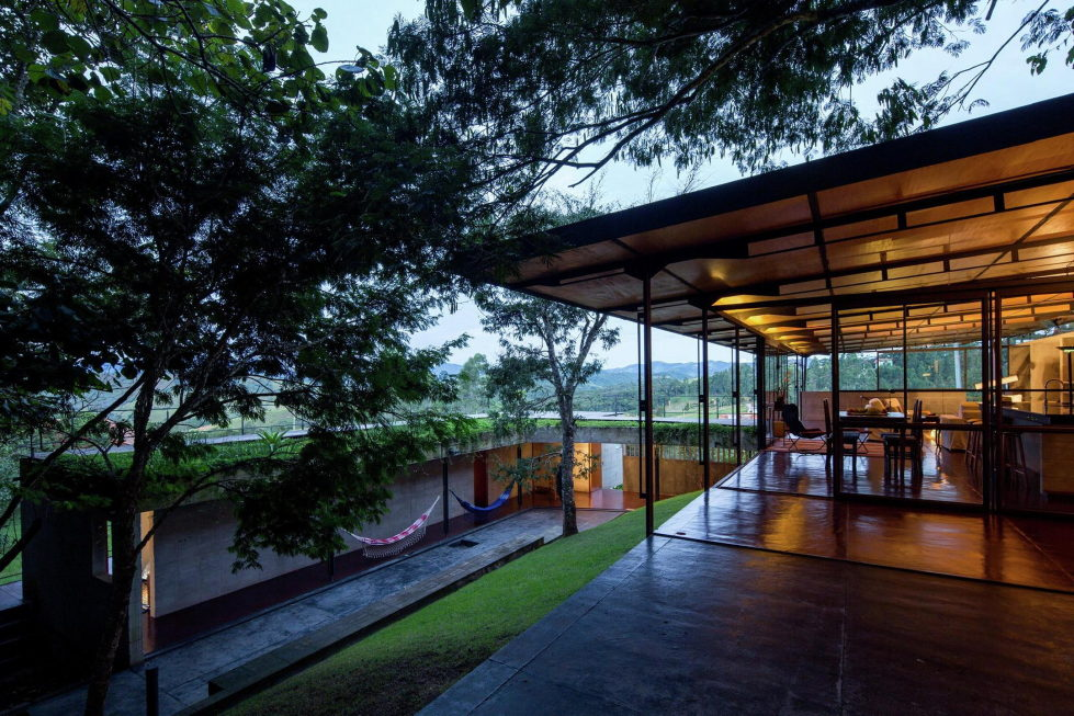 Casa Santo Antonio Manor In The Wood Reserve In Brazil From H+F Arquitetos 22