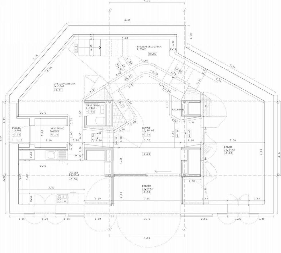 Casa Tmolo A Small Residency In Spain From PYO Arquitectos - Plan 2