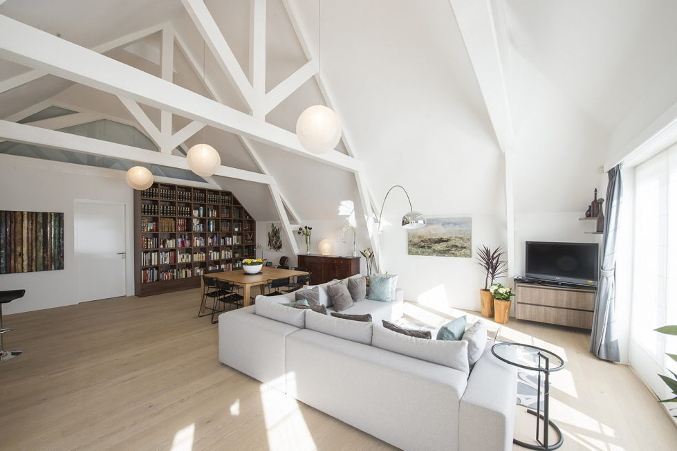 Luxury apartment Casa F in a building of former museum in Rotterdam by PENA Architecture bureau 1