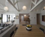 Luxury apartment Casa F in a building of former museum in Rotterdam by PEÑA Architecture bureau