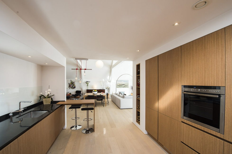 Luxury apartment Casa F in a building of former museum in Rotterdam by PENA Architecture bureau 3