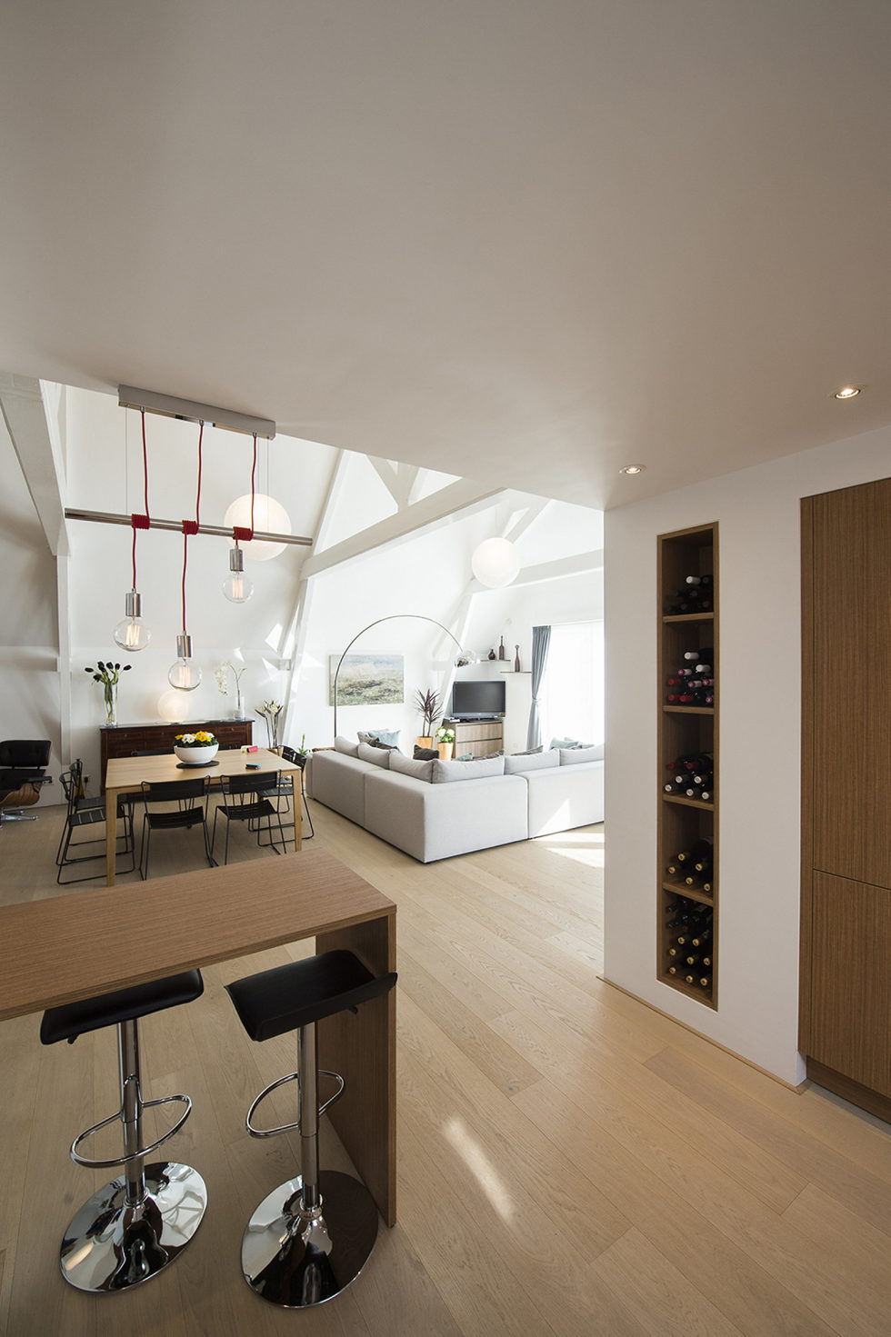 Luxury apartment Casa F in a building of former museum in Rotterdam by PENA Architecture bureau 8