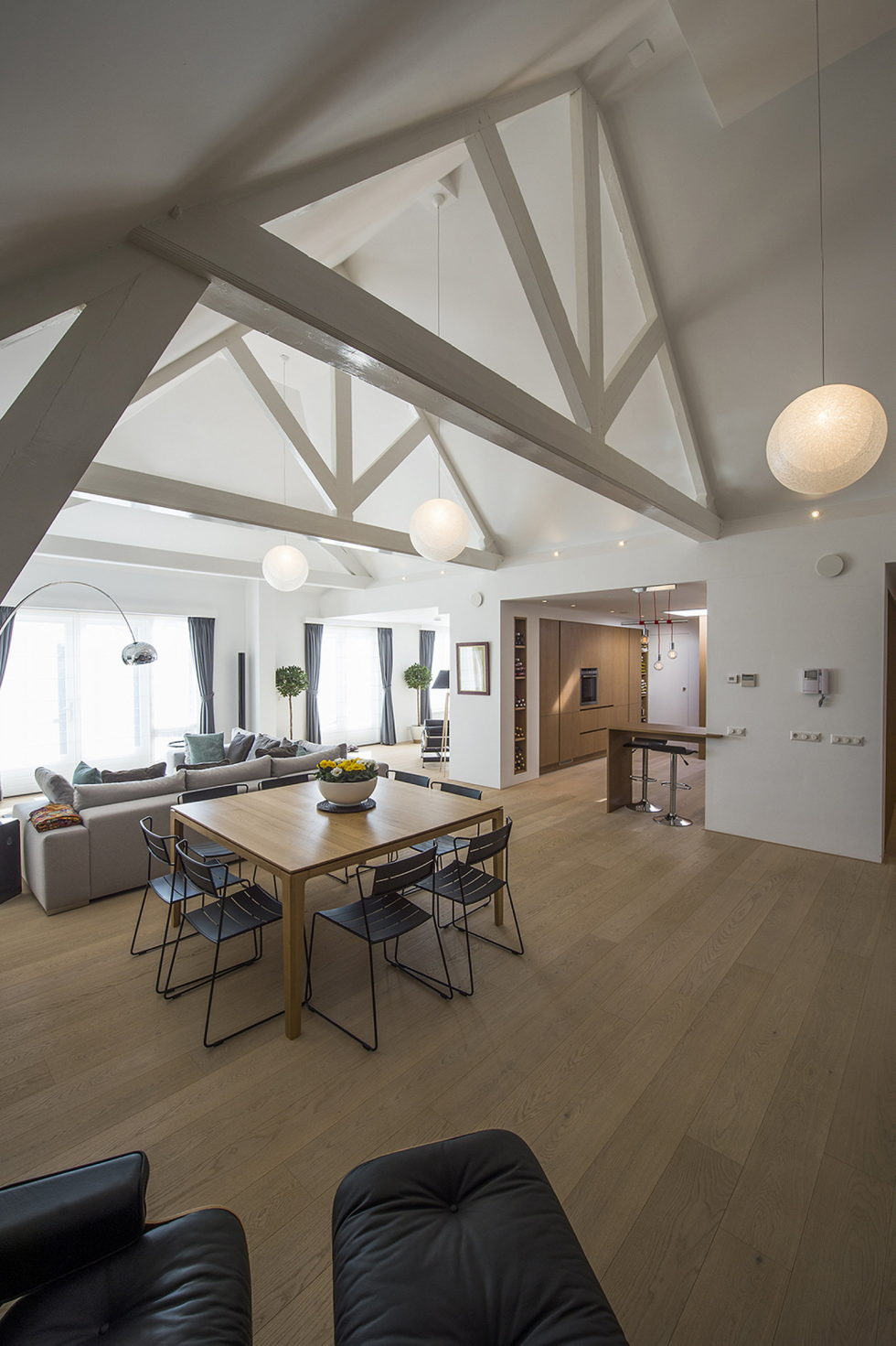 Luxury apartment Casa F in a building of former museum in Rotterdam by PENA Architecture bureau 9