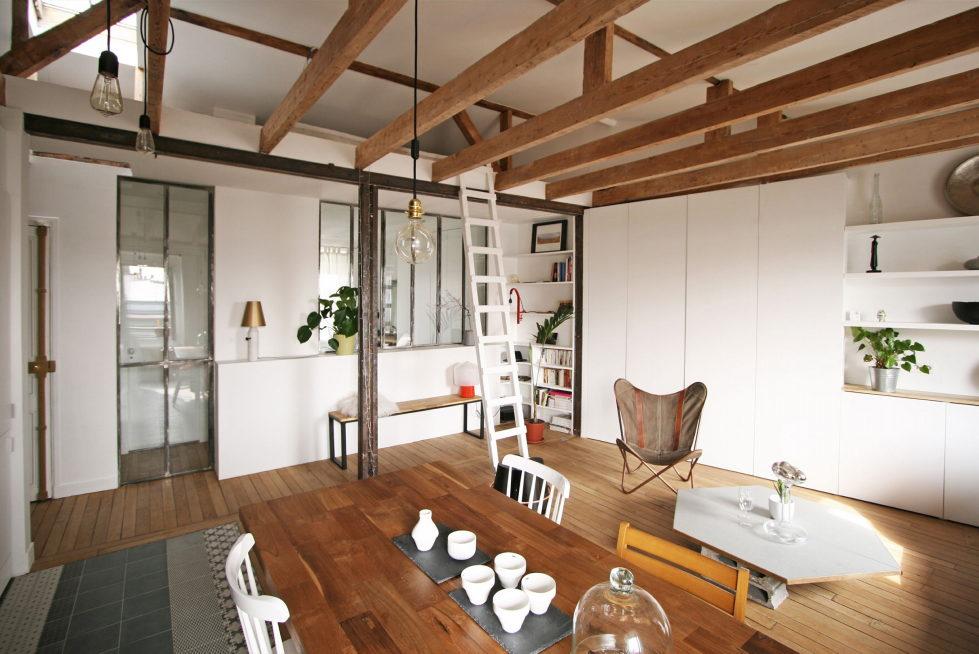 Modern Apartment Instead Of Attic Premises In Paris From Atelier DCCP Architectes 1