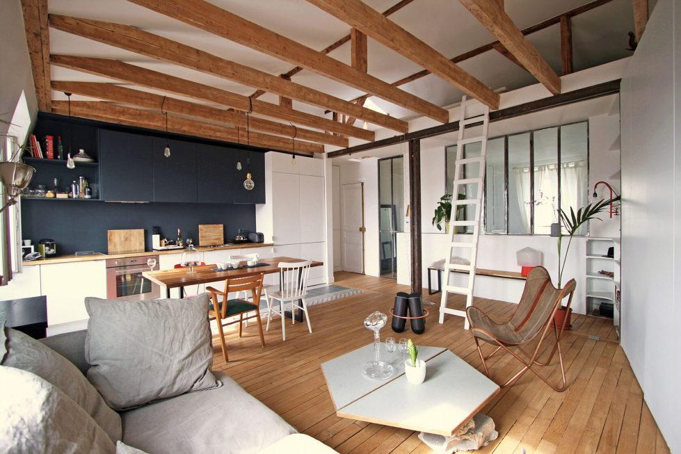 Modern Apartment Instead Of Attic Premises In Paris From Atelier DCCP Architectes 10