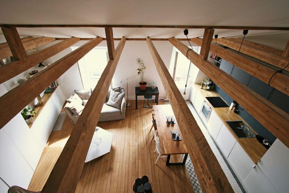 Modern Apartment Instead Of Attic Premises In Paris From Atelier DCCP Architectes 15